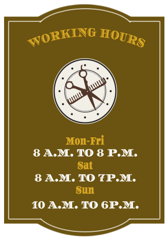 Working hours: Mon-Fri 8am to 8pm, Sat 8am to 7pm, Sun 10am to 6pm